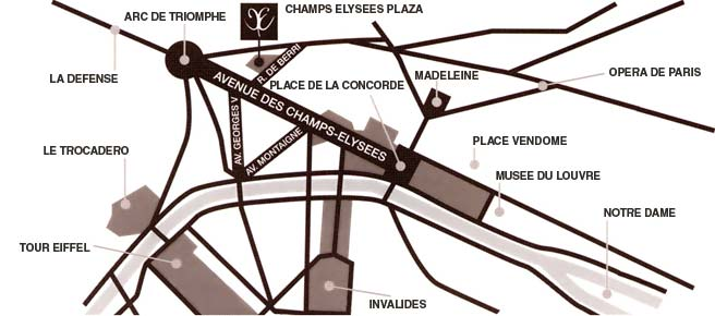 How to get to our hotel Hotel Champs Elyses Plaza Paris near