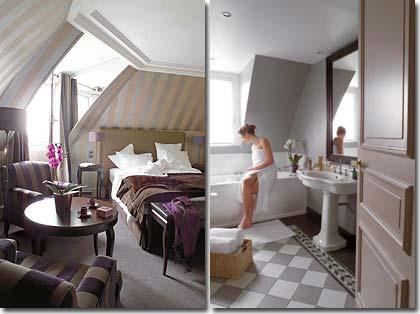 Visitez notre h tel et nos chambres hotel champs elys es for Mini suite parentale