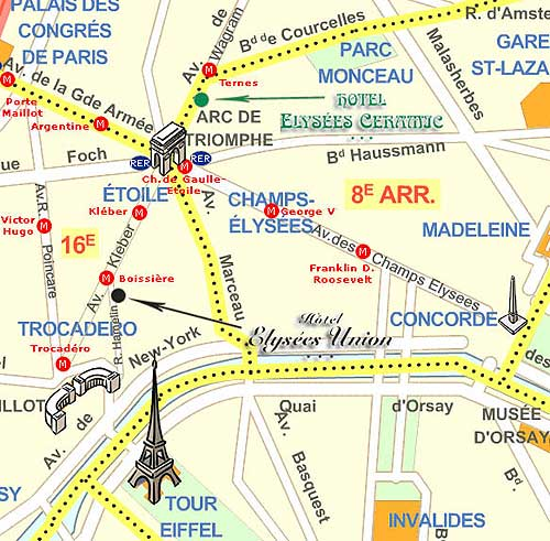 Hotel Elysees Ceramic Paris near the Champs Elysees Paris how to – Map of Paris with Hotels