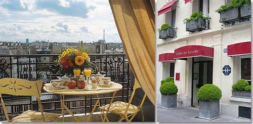 Hotel de Banville Paris 4* star near the Arch of Triumph and the exhibition centres (Palais des Congrès)