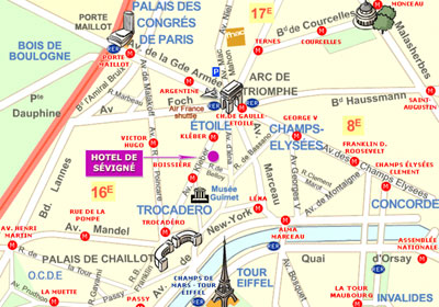 Hotel de sevigne paris near the champs elysees and close for Hotel paris porte maillot
