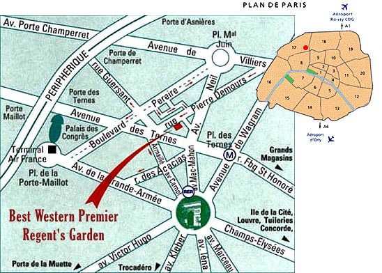 Best western hotel regents garden parigi nei pressi - 30 avenue de la porte de clignancourt ...