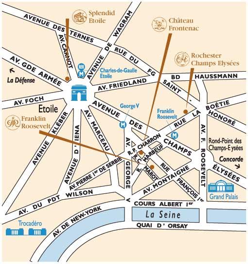 Hotel Best Western Elysees Paris