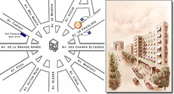 Hotel Napoleon Paris Near The Champs Elysees And Close To The Arch Of Triumph Paris How To Get To Our Hotel Plan Map Route