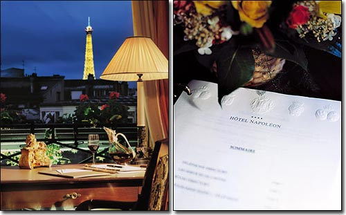 Hotel Napoleon Paris 4* star near the Champs Elysees and close to the Arch of Triumph