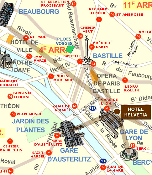 Hotel Helvetia Paris near the Gare de Lyon station Paris – how to