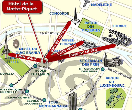 Hotel De La Motte Picquet Paris Near Les Invalides And The