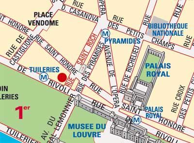 hotel louvre saint romain paris map and access