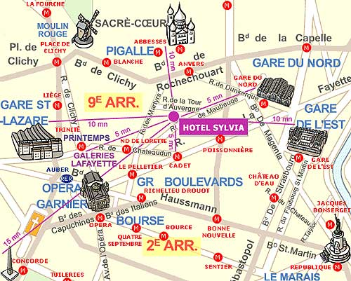 Hotel pavillon opera lafayette paris map and access how to reach us