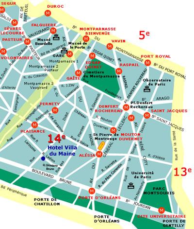 Hotel Villa Du Maine Paris Proche Du Quartier Montparnasse