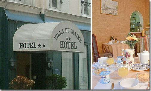 H tel paris hotel villa du maine paris 2 toiles for Hotels quartier montparnasse