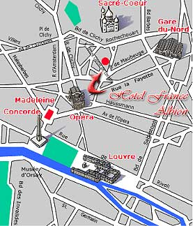 Hotel france albion paris near the garnier opera paris - Paris porte maillot beauvais airport ...
