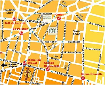 Hotel Ibis Opera Le Peletier Ex Franklin Paris Map And Access How