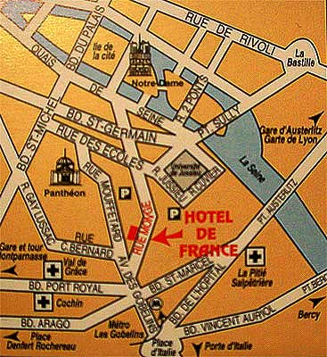Barrio Latino Paris Mapa.Hotel De France Quartier Latin Paris Cerca Del Barrio