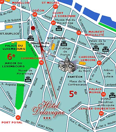 Plan metro quartier latin - Saint michel paris metro ...