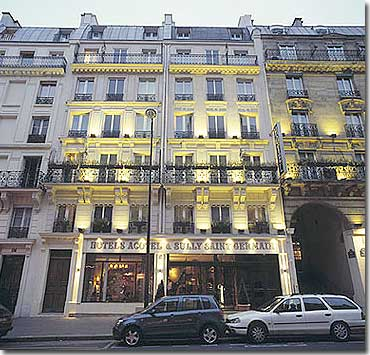 Hotel Sully Saint Germain Paris 3* star near the Latin Quarter (Quartier Latin) and boulevard Saint Michel, Left Bank area