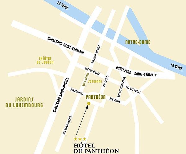 Hotel du pantheon paris near the latin quarter quartier - Station metro jardin du luxembourg ...