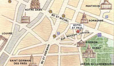 Barrio Latino Paris Mapa.Hotel Saint Paul Rive Gauche Paris Cerca Del Barrio Latino