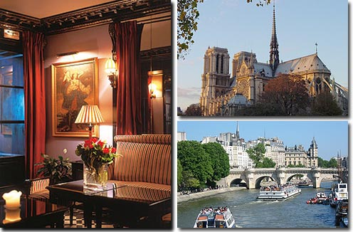 Hotel Villa d'Estrées Paris 4* star near the Latin Quarter (Quartier Latin) and boulevard Saint Michel, Left Bank area