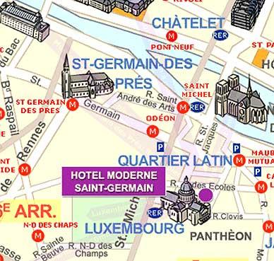 Hotel Moderne Saint Germain Paris