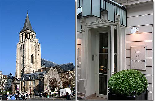 Hotel le Saint Gregoire Paris 4* star near the Saint-Germain des Prés District, Left Bank