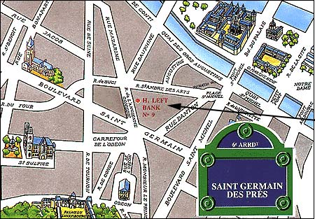 Hotel Left Bank Saint Germain Paris Map And Access How To Reach Us