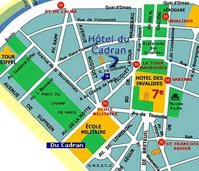 Hotel du cadran paris proche de la tour eiffel acc dez - Plan metro paris porte de versailles ...