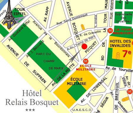 Hotel relais bosquet paris proche de la tour eiffel - Trajet metro gare de lyon porte de versailles ...