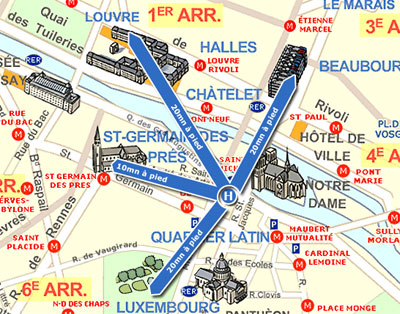 Hotel les rives de notre dame paris near the latin quarter quartier latin and boulevard saint - Parking porte de saint cloud ...