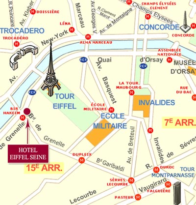 mapa paris torre eiffel Hotel Eiffel Seine Paris near the Eiffel Tower Paris – how to get  mapa paris torre eiffel